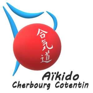 Logo association aikido cherbourg : fluidité, dynamisme, simplicité