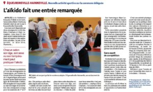 Le Club Aikido Cherbourg Cotentin dans la Presse à Equeurdreville