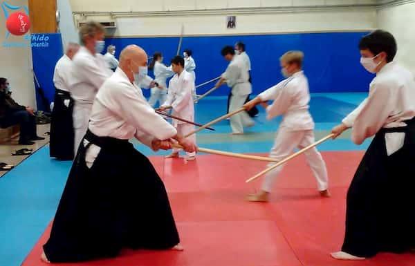 Pratique des arts martiaux et du bokken par le club Aikido Cherbourg Cotentin à Equeurdreville Hainneville