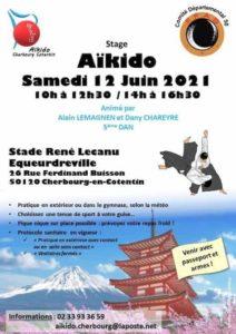 affiche arts martiaux avec le stage de aikido cherbourg cotentin affiche